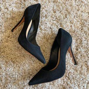 SCHUTZ Pointed toe black suede pumps heels